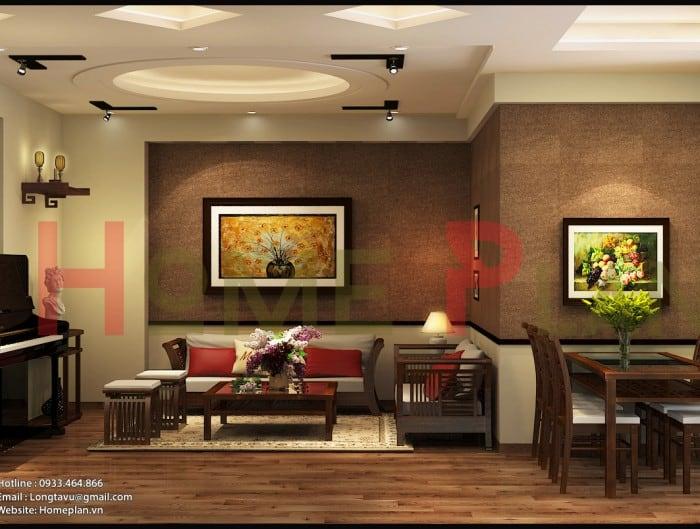 thiết kế nội thất chung cư sunrise tower 187 tây sơn