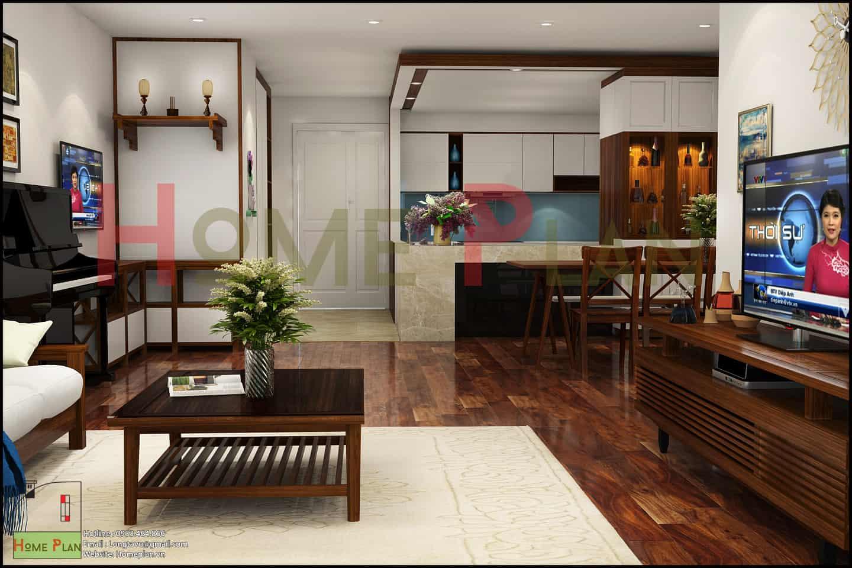 thiết kế nội thất chung cư new skyline văn quán - phòng bếp 143m2