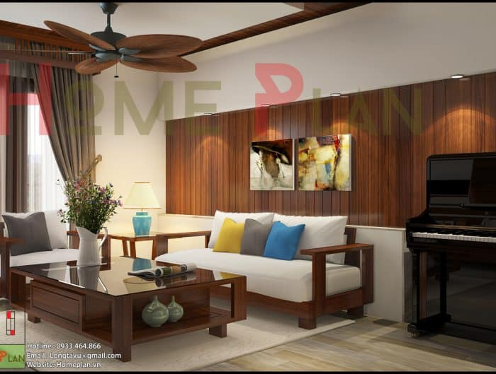 Thiết kế nội thất phòng khách chung cư new skyline văn quán