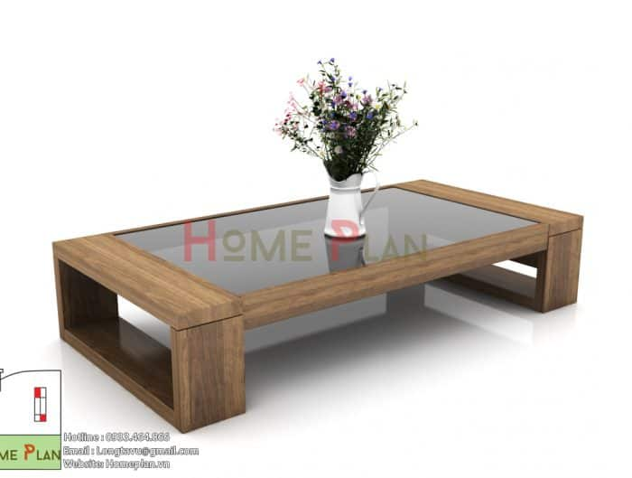 bàn sofa gỗ sồi
