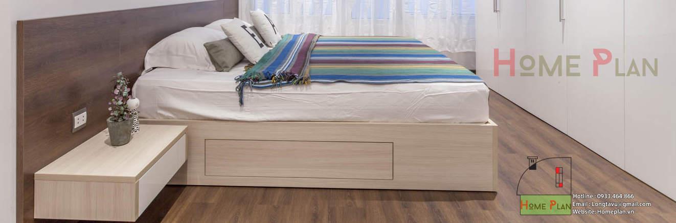 Melamine kết hợp sàn gỗ sần