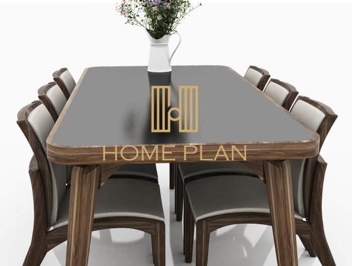 bộ bàn ghế ăn gỗ tự nhiên hiện đại