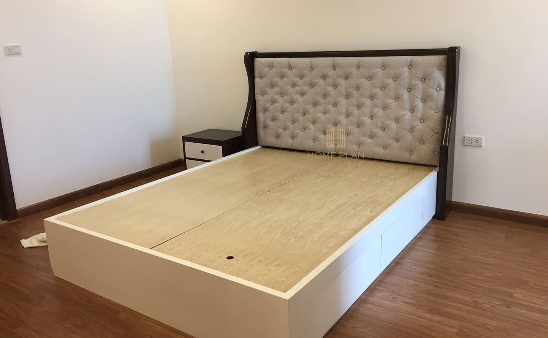 giường ngủ gỗ tự nhiên hiện đại có ngăn kéo